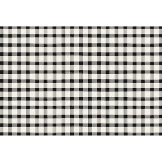 Black Painted Check Placemat