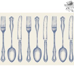 Vintage Blue Cutlery Placemats