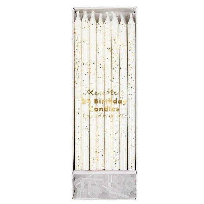 Gold glitter birthday candles