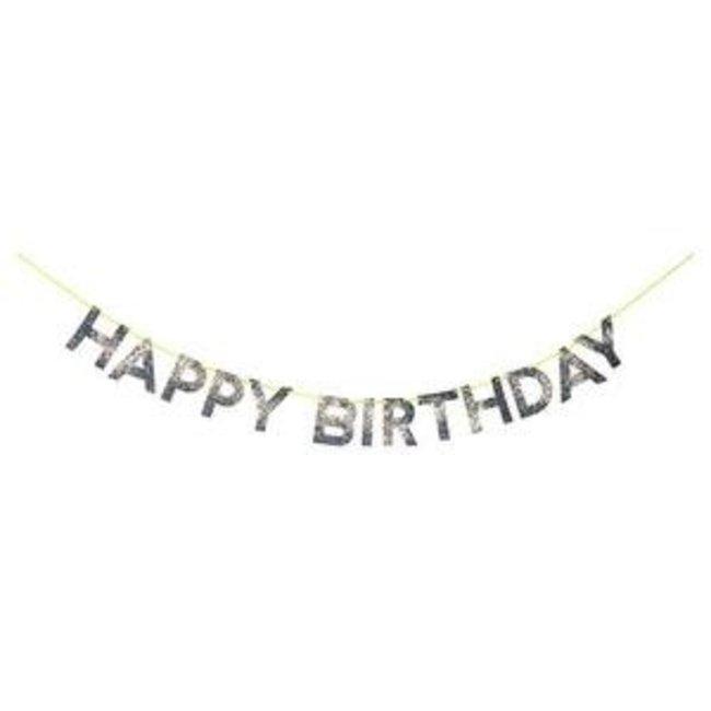 Silver Happy Birthday Garland