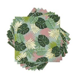 cakewalk monstera cocktail napkin