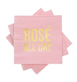 cakewalk Rose all Day cocktail napkins