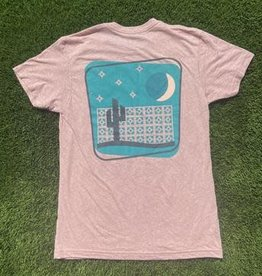 iconic arizona Breeze block desert pink tee