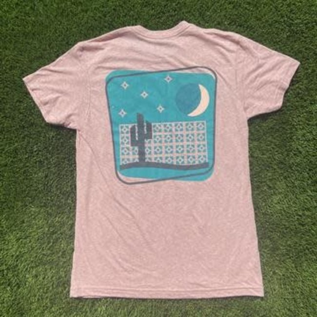 Breeze block desert pink tee
