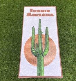 iconic arizona Saguaro Sunset Beach Towel