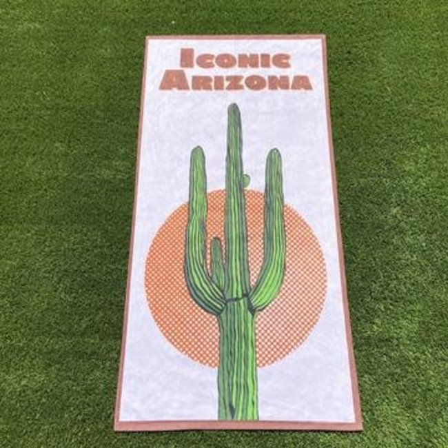 Saguaro Sunset Beach Towel