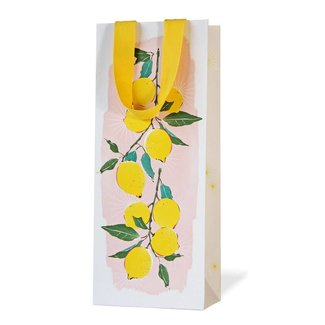 Driscoll Design Pink Lemon Wine Bag