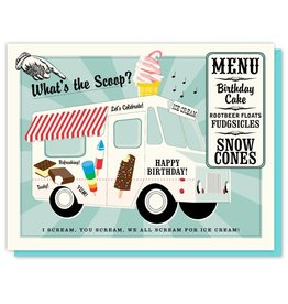 Driscolla Design Ice Cream Truck Card Birthday Card