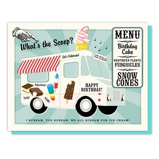 Ice Cream Truck Card Birthday Card