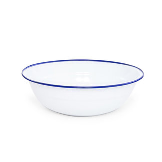 crow canyon Medium Basin White Blue Rim