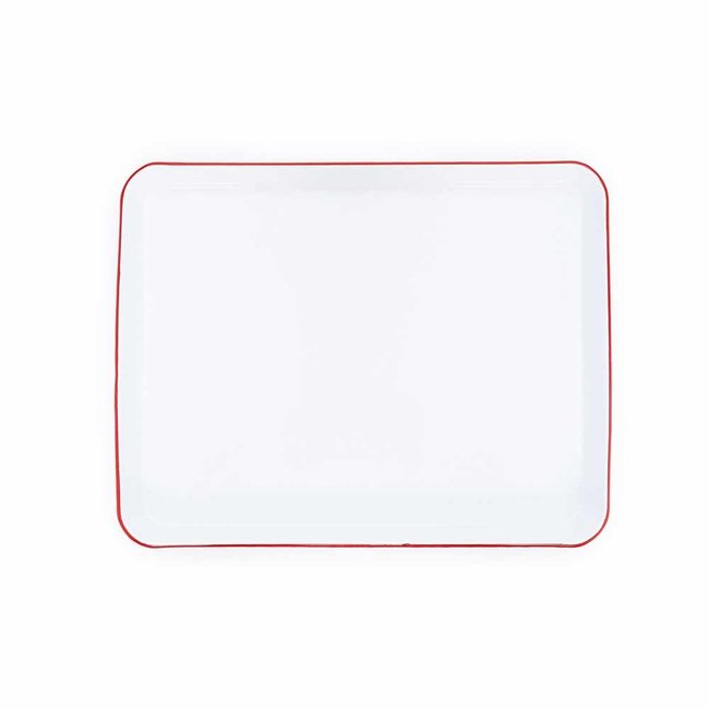 crow canyon Rect Tray/Jelly roll white Red rim