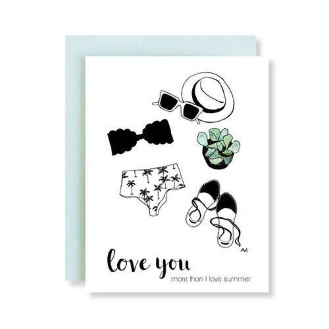 Love You Summer Card