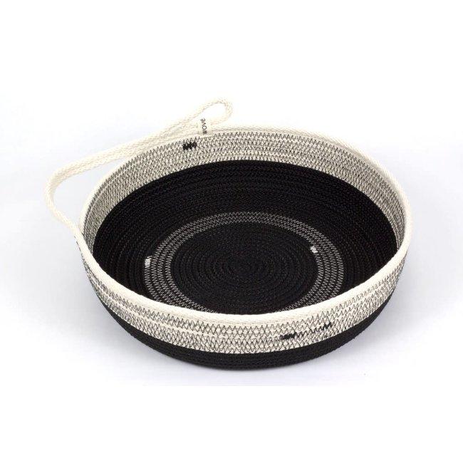 Large One Handled Black Table Basket