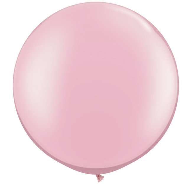 """30"""" Pearl Pink Round Latex Balloon"""