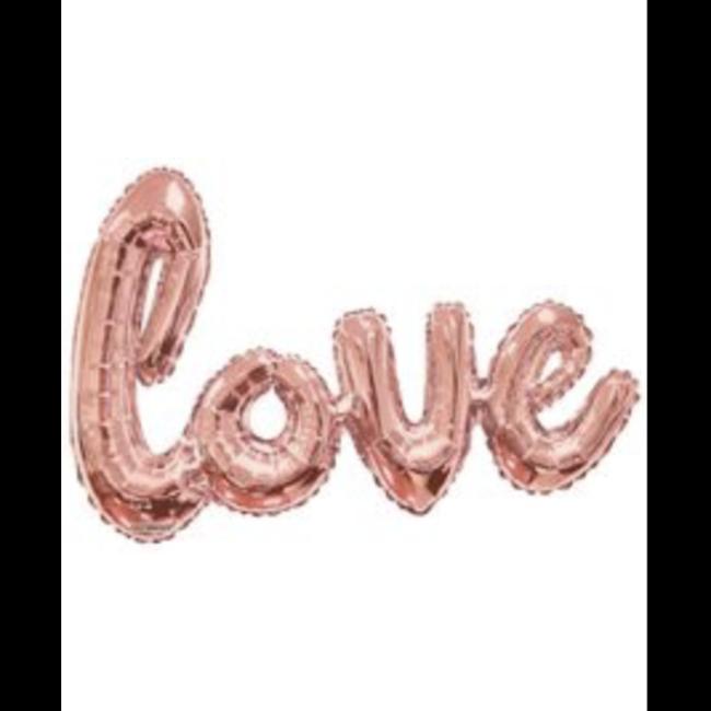 """36"""" LOVE Script Rose Gold"""