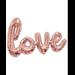 """40"""" LOVE Script Rose Gold"""