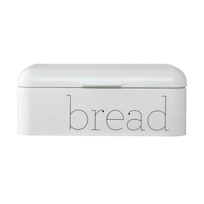 Metal Bread Bin White