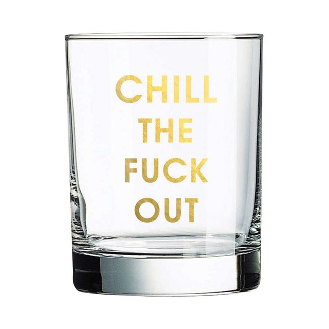 Chill Out Rocks Glass