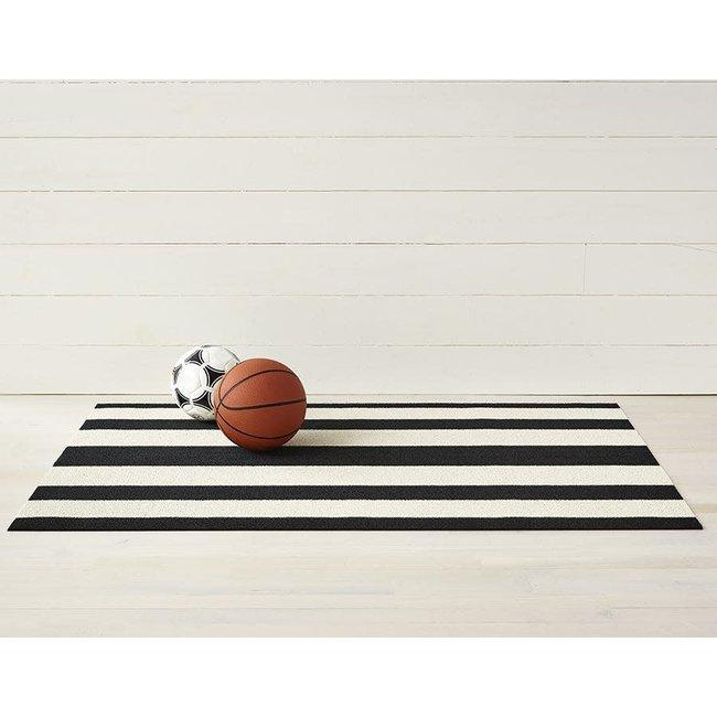 Bold Stripe Utility Mat  Black White