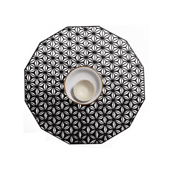 Kaleidoscope Placemat Black