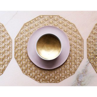 Kaleidoscope Placemat Brass