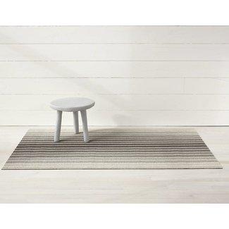 Block Stripe shag taupe doormat