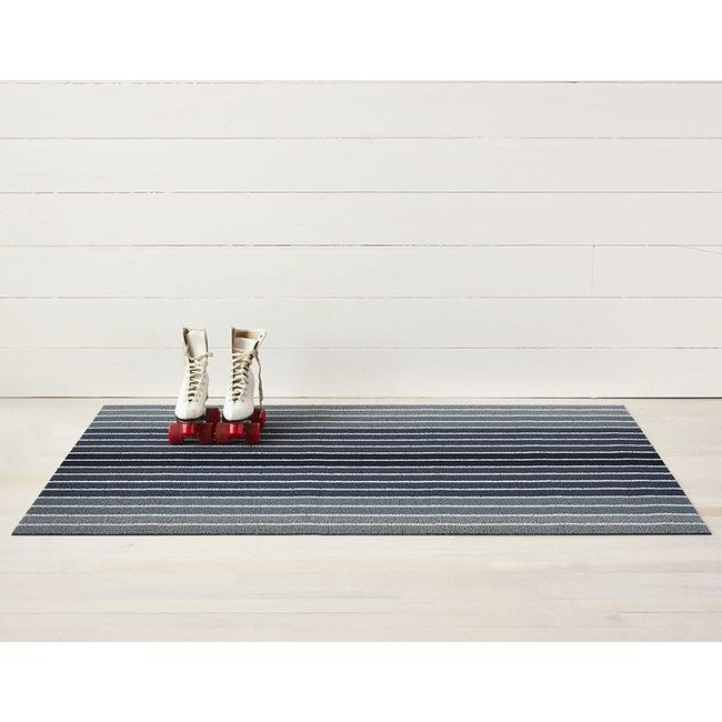 block stripe doormat denim
