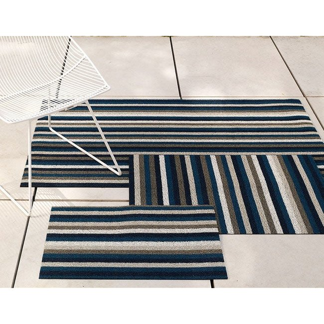 Even Stripe Utility Mat Marine