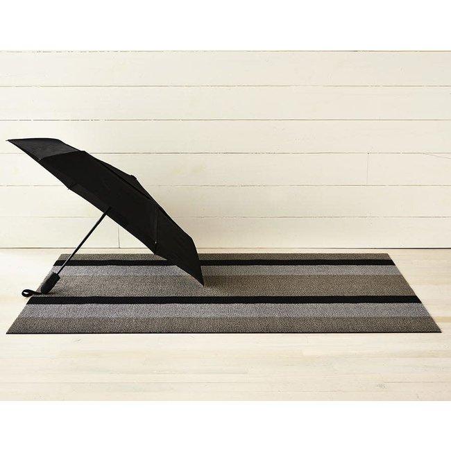Doormat Bold Stripe Silver Black