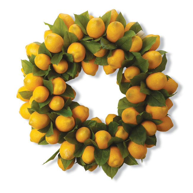 "24"" Lemon and Foliage Wreath"