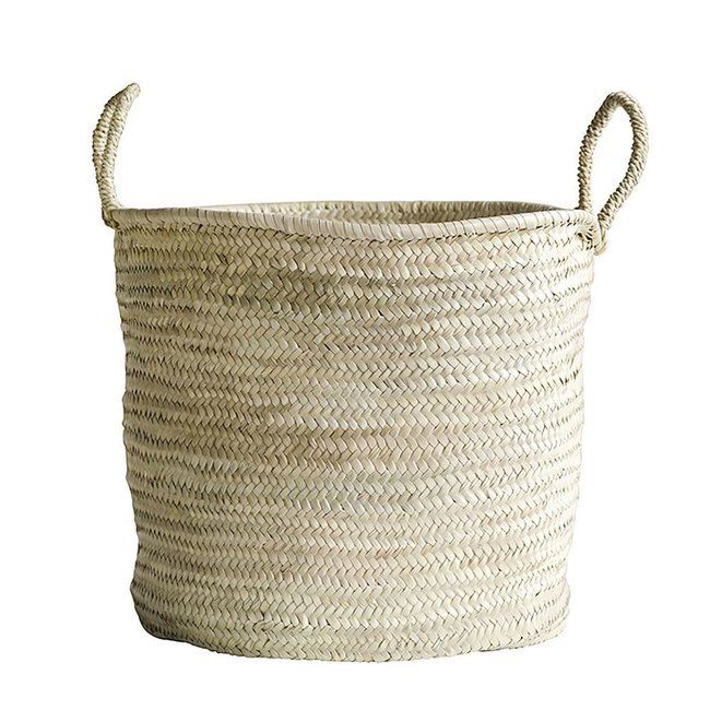 Hand Woven Moroccan Basket, Large