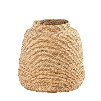 Hand-Woven Cattail Basket