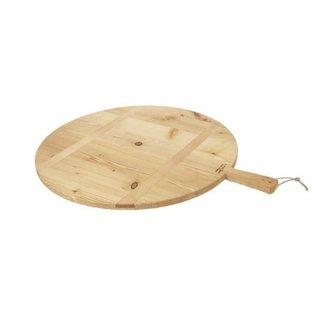 Sm Round Pizza Board Natural