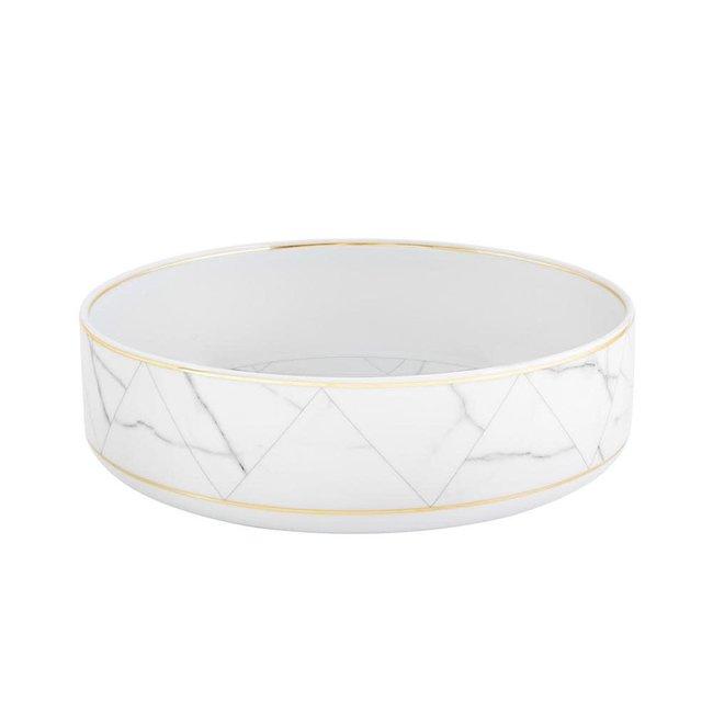 Carrara  White Marble Salad Bowl