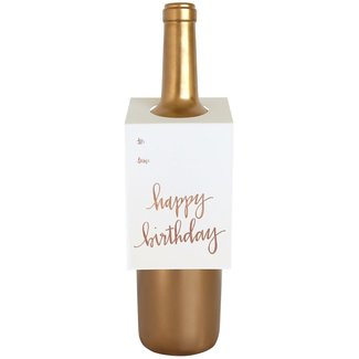 Happy Birthday Script Wine Tag
