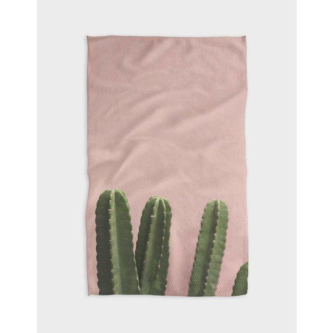 Pink Cactus Tea Towel
