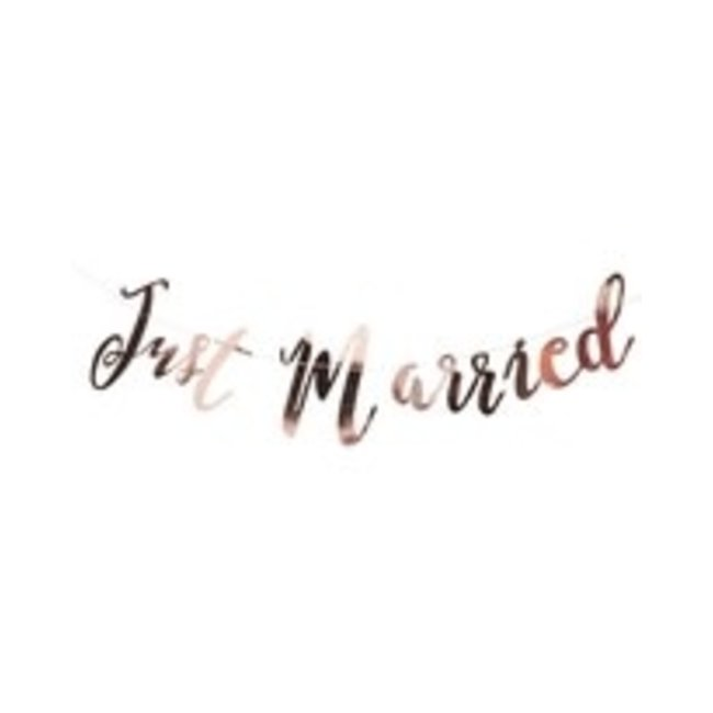 Just Married Garland Rose Gold