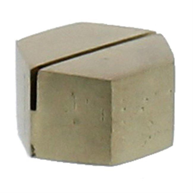 Hexagon Place Card Holder Brass