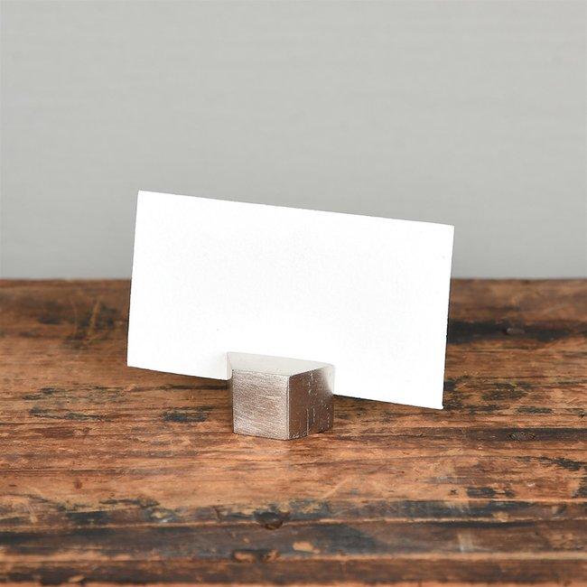 Hexagon Place Card Holder Nickel