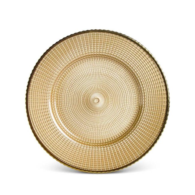 Gold Glass Charger