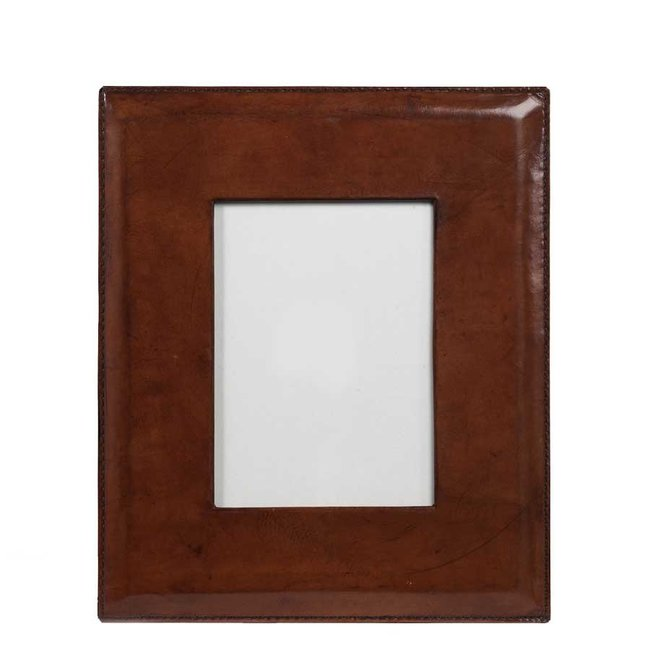 """12"""" Copper Leather Frame 5x7"""