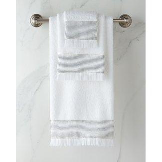 Amagansett Towel Tip White