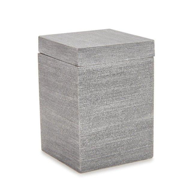 Slate Bath Cotton Jar Grey