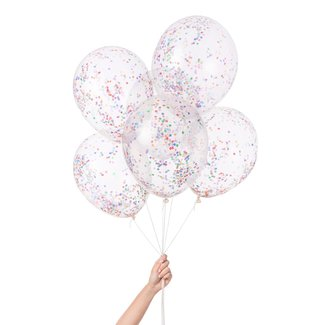 Tiny Rainbow Confetti Balloon Set