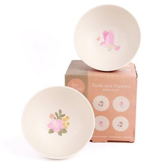 4pk Bowls - Birds And Flowers