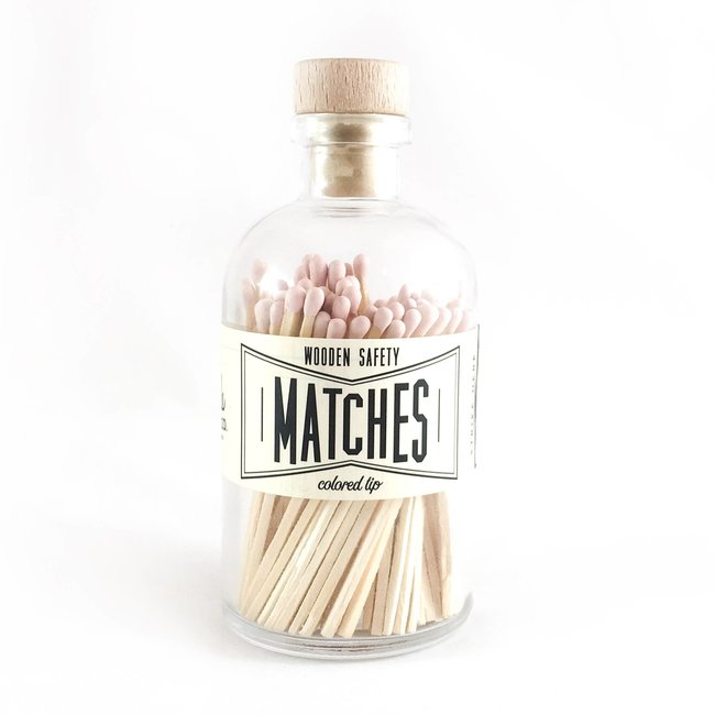 Vintage Apothecary Matches- Light Pink