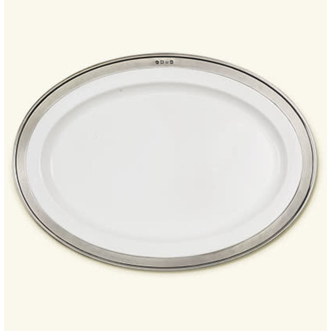 Match Convivio Oval Serving Platter Med