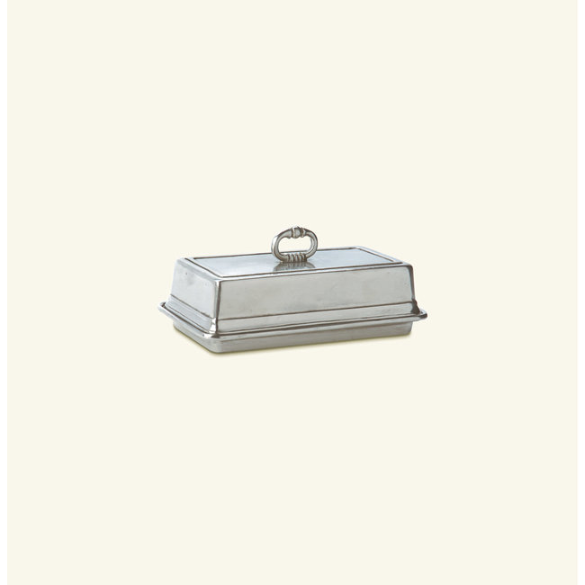 Match Pewter Covered Butter Dish