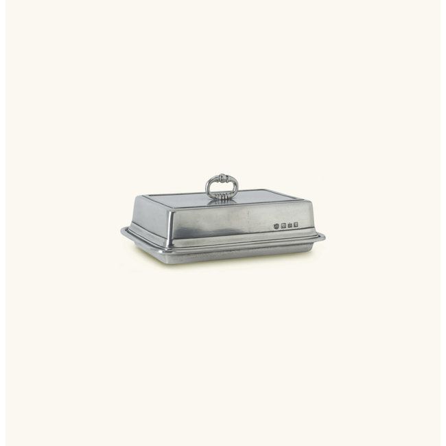 Match Double Butter Dish with Cover