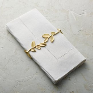 Leaf Napkin Gold Wrap